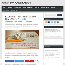 8 content Tricks That You Didn't Think Were Possible