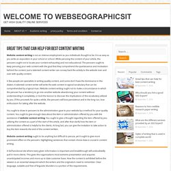Great tips that can help for best content writing - WELCOME TO WEBSEOGRAPHICSIT