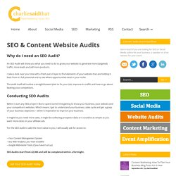 content website audits why do i need an seo audit