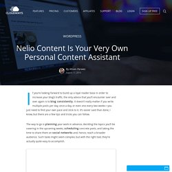 Nelio Content WordPress Plugin Review & Giveaway
