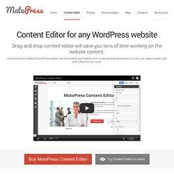 Content Editor plugin for WordPress
