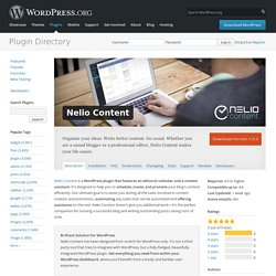 Nelio Content — WordPress Plugins