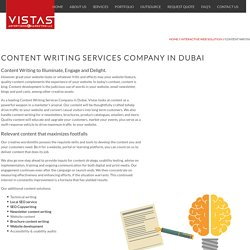 Content Writers in Dubai - Content Writing Company Dubai