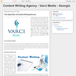 Content Writing Agency - Varci Media - Georgia: The High Rise of Content Writing Service