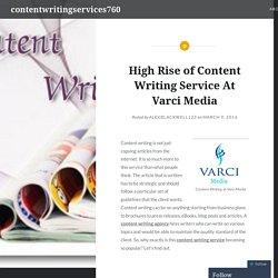 Content Writing Service - Varci Media Georgia