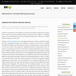 Demand For Content Writing Services – GOIGI Blog