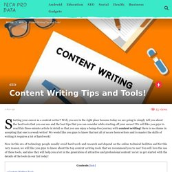 Content Writing Tips and Tools! - Tech Pro Data