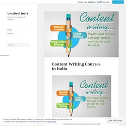 Content Writing Courses in India – Unschool India
