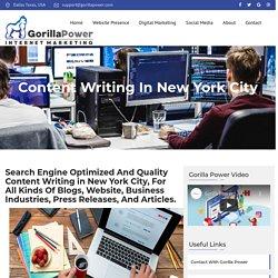 Website Content Writer New York City