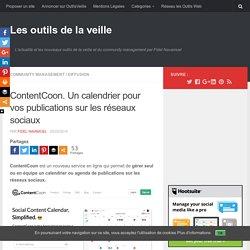 ContentCoon. Un calendrier pour vos publications sur les réseaux sociaux