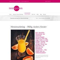 Text Spot On - Contenterstellung für Messemarketing