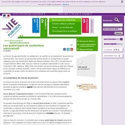 Les quatre types de contentieux administratif - Approfondissements Découverte des institutions