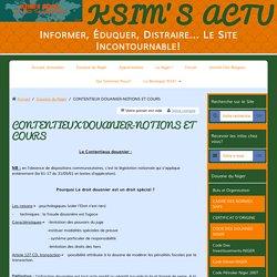CONTENTIEUX DOUANIER-NOTIONS ET COURS