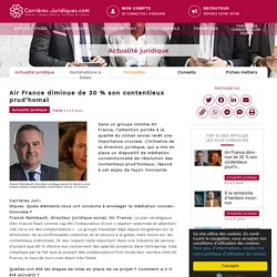 Air France diminue de 30 % son contentieux prud'homal - Carrières-Juridiques.com