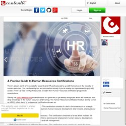 A Precise Guide to Human Resources Certifications