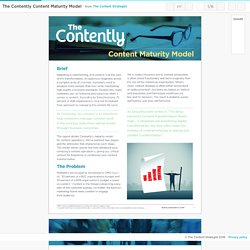 The Contently Content Maturity Model