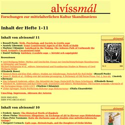 Contents of alvíssmál 1-11