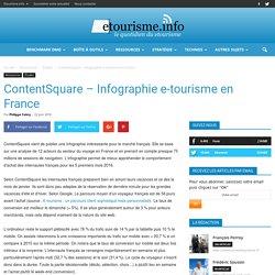 ContentSquare - Infographie e-tourisme en France