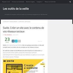 Swite. Créer un site avec le contenu de vos réseaux sociaux – Les outils de la veille
