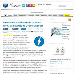 Les contenus AMP arrivent dans les résultats naturels de Google (mobile)