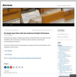 Un plugin pour bien citer les contenus Creative Commons