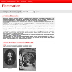 Contenus - Flammarion editions