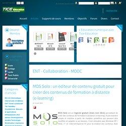 MOS Solo : un éditeur de contenu gratuit pour créer des contenus de formation à distance (e-learning)