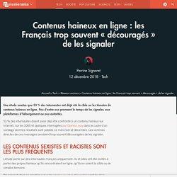 Contenus haineux en ligne : les Français trop souvent « découragés » de les signaler