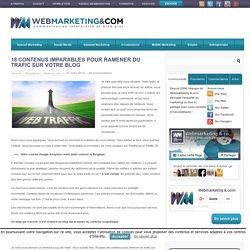 18 contenus imparables pour ramener du trafic sur votre blog