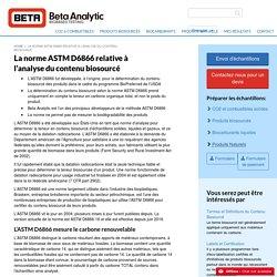 ASTM D6866-11, Tests de contenus d'origine biologique