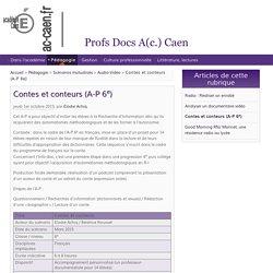 Contes et conteurs (A-P 6e)