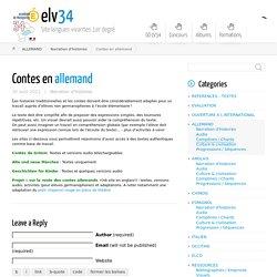 Contes en allemand