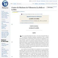 Contes de Madame de Villeneuve/La Belle et la Bête