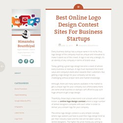 Best Online Logo Design Contest Sites For Business Startups