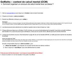 Contest de calcul mental