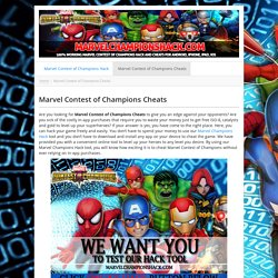 Marvel Contest of Champions Cheats - Generate FREE Gold PROVEN