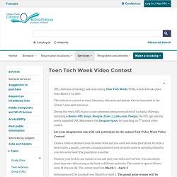 Teen Tech Week Video Contest