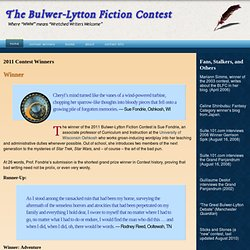 2011 Contest Winners » The Bulwer-Lytton Fiction Contest