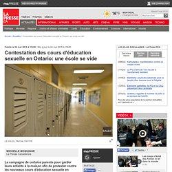 Contestation des cours d'éducation sexuelle en Ontario: une école se vide
