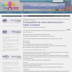 Contestation de note administrative : mode d'emploi