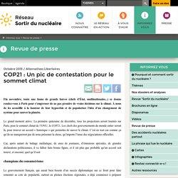 COP21: Un pic de contestation pour le sommet climat