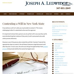 Contesting a Will in New York State