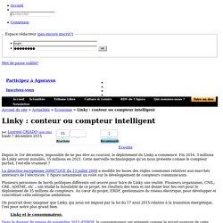 Linky : conteur ou compteur intelligent