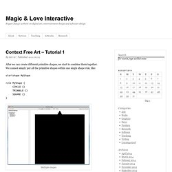 Context Free Art – Tutorial 1 » Magic & Love Interactive