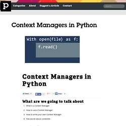Context Managers in Python