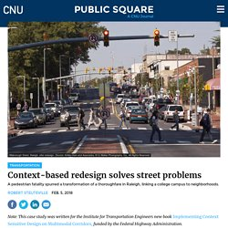 Context-based redesign solves street problems