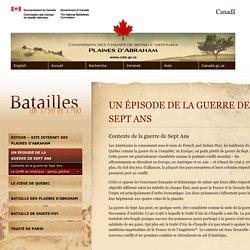 Contexte de la guerre de Sept Ans > Le siège de Québec: un épisode de la guerre de Sept Ans > Commission des champs de bataille nationaux