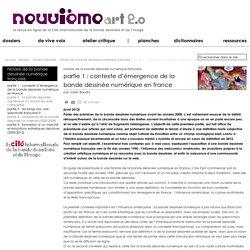 partie 1 : contexte d'émergence de la bande dessinée numérique en France