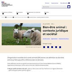 Bien-être animal : contexte juridique et sociétal