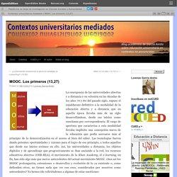 MOOC. Los primeros (13,27)